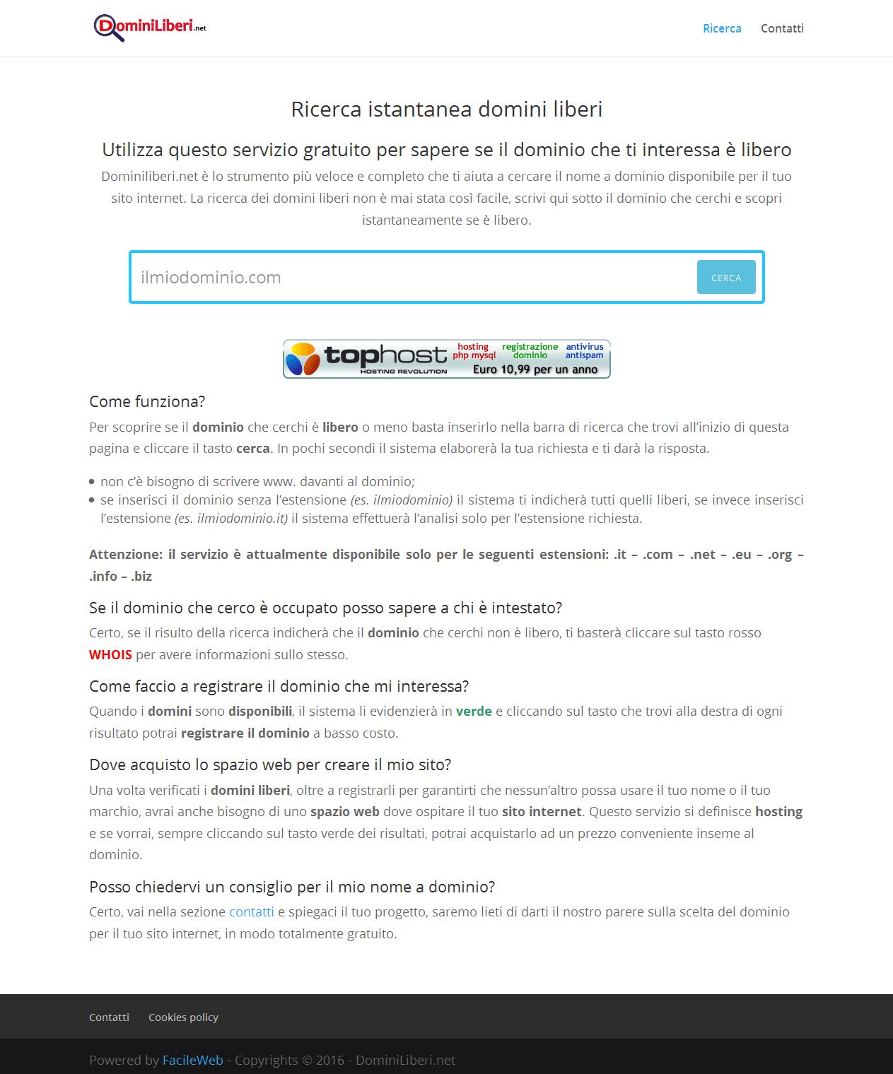 Immagine sito intero domini liberi